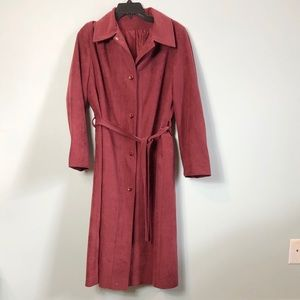 Vintage ilgwu made Sears trench coat size 14 lined